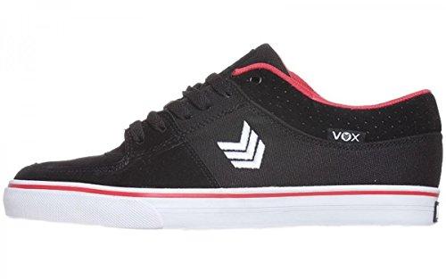 Vox Skate Shoes Passport Black Red white