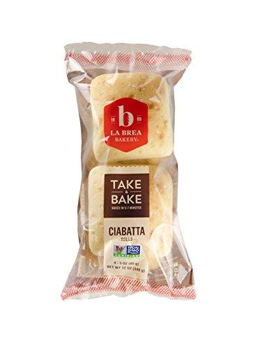 La Brea Bakery Take and Bake Roll, Rustic Ciabatta, 3 oz each - Buns Sticky Bakery