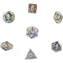 Polyhedral Dice: Festive Carousel w/ White