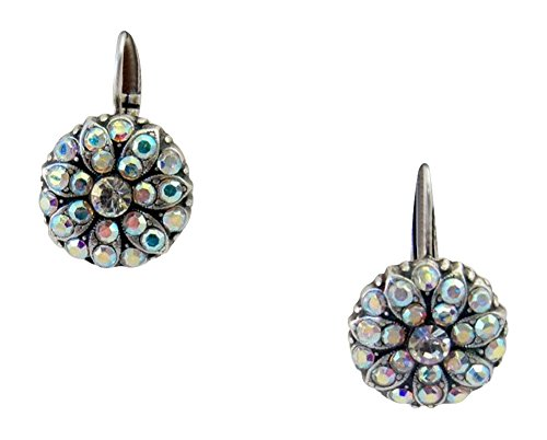 Mariana Clear AB Flower Swarovski Crystal Earrings ()