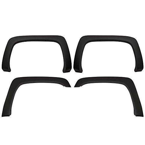 Fender Flares Fits 2007-2013 Chevy Silverado | OE Style OEM Matte Black Finish PP Injection Long Bed Front Wheel Cover Protector Vent Trim by IKON MOTORSPORTS |  2008 2009 2010 2011 2012