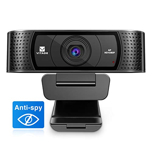🥇 Vitade 928A Pro Cámara Web 1080P HD Micrófono Dual Anti Spy USB para Mac Windows PC Portátil Xbox Skype VideoChat