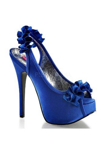 - Pleaser Bordello Women's Teeze 56 Boots,Blue,7 M