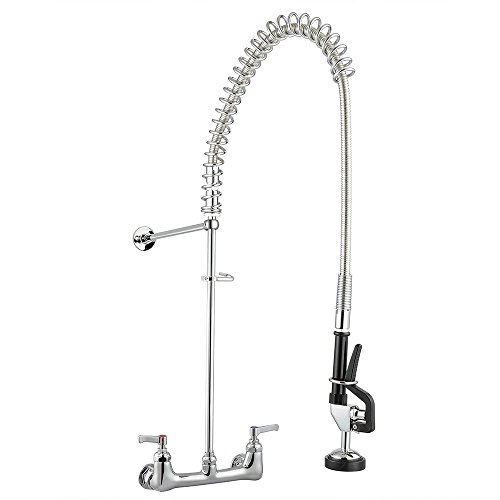 Commercial Kitchen Restaurant 8'' Center Splashmount Pre-Rinse Faucet by allgoodsdelight365