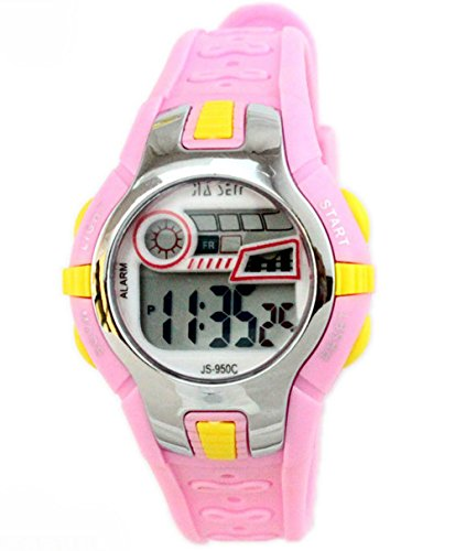 Boys Girls Outdoor Digital Quartz Waterproof Jelly Colorful Sports Watches For 7-15 Years Old Rose by GXFCO