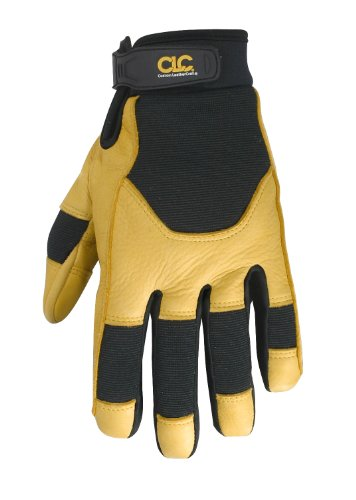 - CLC Custom Leathercraft 285L Work Gloves with Top Grain Deerskin and Neoprene Wrist Closure, Large