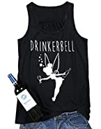 Drinkerbell Fairy O-Neck Tank Top Women Casual Printed Sleeveless Funny T-Shirt