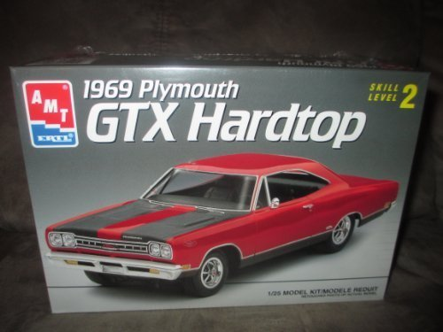 #6111 AMT 1969 Plymouth GTX Hardtop 1/25 Scale Plastic Model Kit,Needs Assembly by AMT Ertl