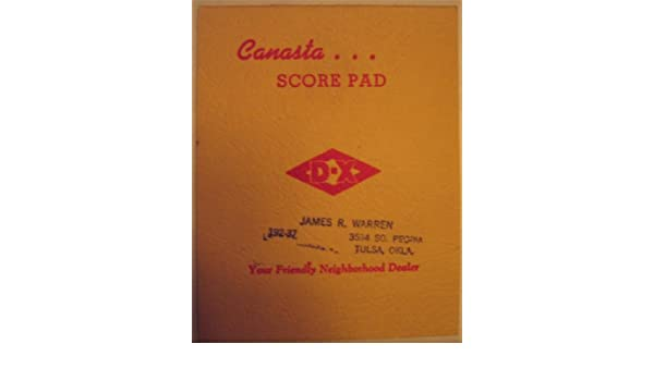 Canasta Score Pad: Viquesney: Amazon.Com: Books