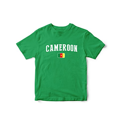 nobrand Cameroon World Cup T-shirt Team Flag For Kids & Mens (Infant Green 4 T)