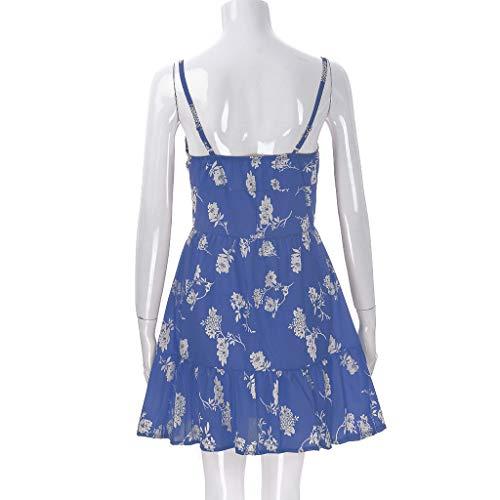 sonnena zomerblauw korte jurk Fashion Floral damesjurken Casual qaw58Zq