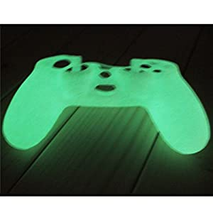 ANGELS--Glow In the Dark Noctilucence Silicone Skin Case Cover for Sony PS4 Controller