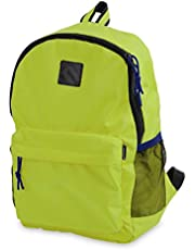 Mintra Office Back To School Backpack Lime Yellow color