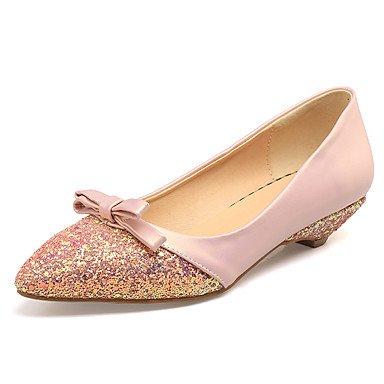 Cómodo y elegante soporte de zapatos de las mujeres pisos primavera verano otoño otros sintética oficina y carrera vestido de fiesta y noche tacón bajo otros verde rosa de almendro en otros Almond