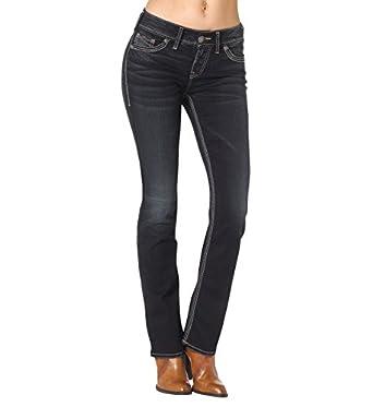 Amazon.com: Silver Jeans Women&39s Suki Mid-Rise Slim-Super Stretch