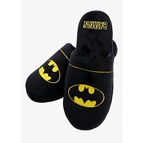 DC Comics Batman Mula Pantuflas Negro - negro