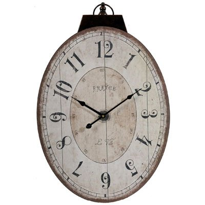 A&B Home Lu Ville Wall Clock, 17.7 X 29-Inch (Looking Antique Wall Clock)