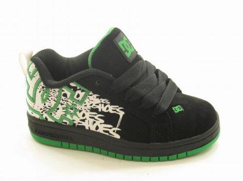 - DC Shoes Kids' Court Graffik SE P/G (Blk/Emerald/Wht PRT 11.0 M)
