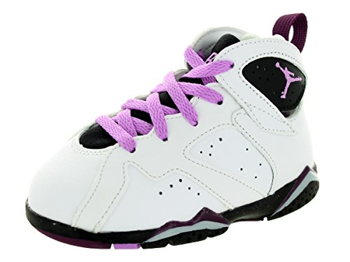 [705418-127] AIR JORDAN AJ 7 RETRO GT TD TODDLERS SNEAKERS AIR JORDANWHITE FUCHSIA GLOW BLK MLBRRYM