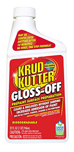 KRUD KUTTER GO32 Gloss-Off Prepaint Surface Preparation, 32-Ounce (Best Liquid Sandpaper Deglosser)