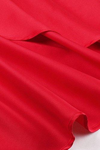 Besticktes mit Damen Cocktailkleider Elegante Spitzenkleid für Abendkleider Hochzeit Axoe Rot Festliche HY4dx0d