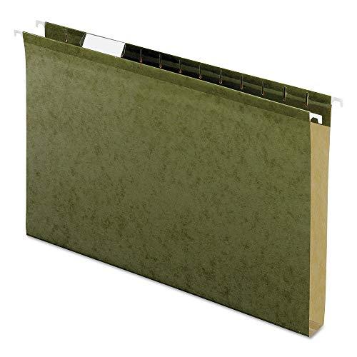 Pendaflex Reinforced 1 inch Extra Capacity Hanging Folders, Legal, Standard Green, 25/Box