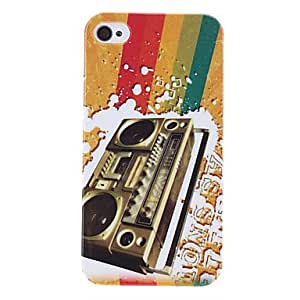 (CASEI)Hi-Q Retro Style Recorder Pattern Protective Hard Case for iPhone 4/4S