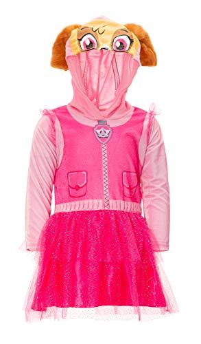 Nickelodeon Paw Patrol Skye Toddler Girl Hooded Costume Dress Leggings Set Pink 3T -