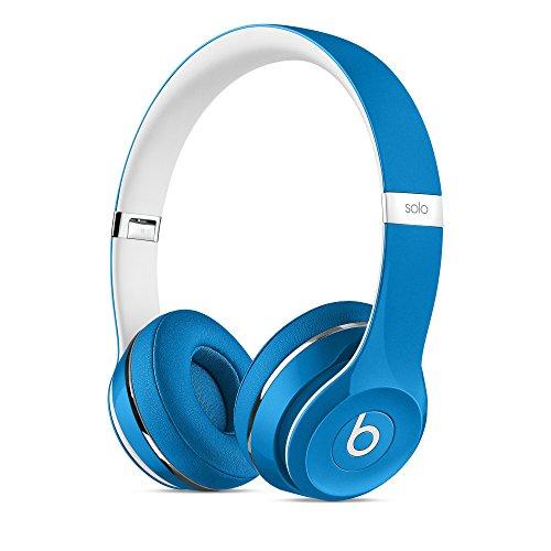(Beats Solo2 WIRED On-Ear Headphones Luxe Edition NOT WIRELESS - Blue (Renewed))