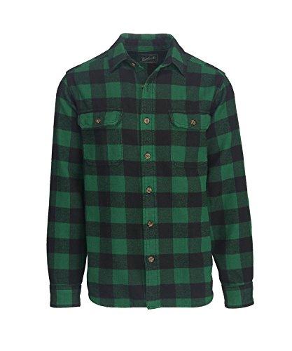 Woolrich Men's Oxbow Bend Flannel Shirt, Forest, Medium (Flannel Wool)