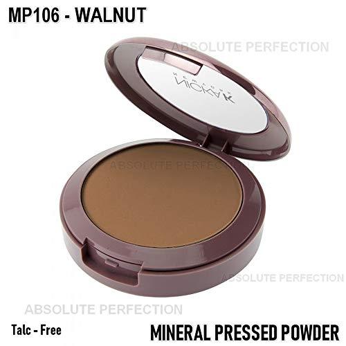 NICKA K New York Mineral Pressed Powder 0.35oz, MP106 Walnut