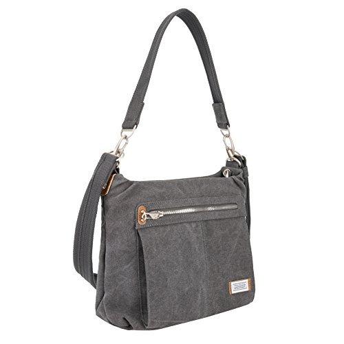 Travelon Anti-Theft Heritage Hobo Bag, Pewter