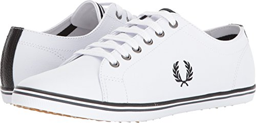 Fred Perry Kingston Leather Sneaker, White, 9 D UK (10 (Best Fred Perry Mens Sneakers)