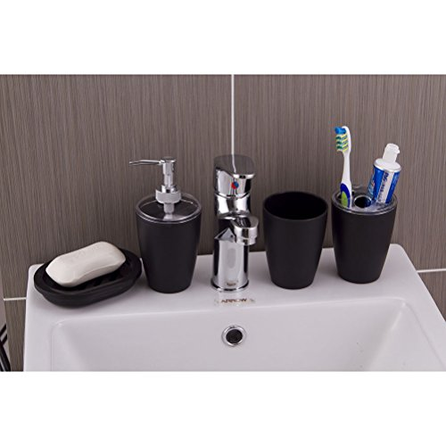 Elegant Bathroom Accessories Cheap: NUOLUX 4pc Plastic Elegant Bathroom Accessory Set Soap