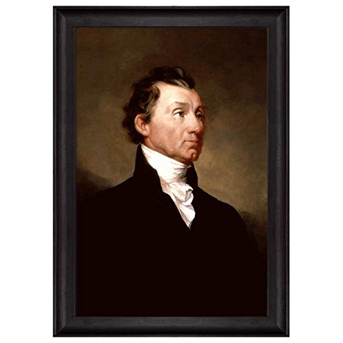 Portrait of James Monroe by Samuel Morse (5th President of the United States) American Presidents Series Framed Art Print
