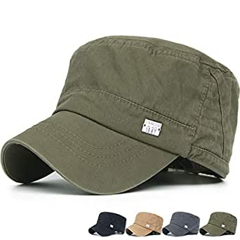 REDSHARKS Washed Cotton Cadet Cap Military Army Hat