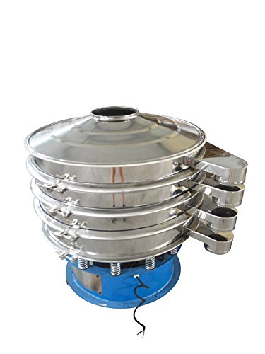 220V 750W Electric 31.5'' Diameter Three Layers Stainless Steel Powder Vibrating Machine Shaker Screen by shaker