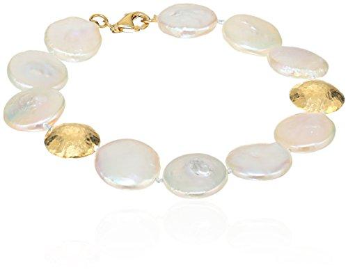 Gurhan Lentil Gold Coin Pearl - Gold Lentil