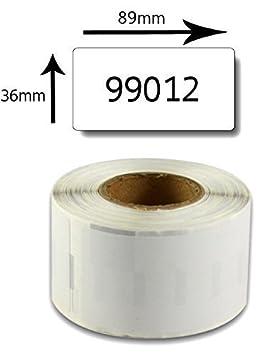 bubprint Etiketten kompatibel f/ür DYMO 99012 S0722400 89X36mm Bianco