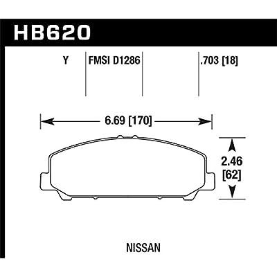 Hawk Performance HB620Y.703 LTS Brake Pad: Automotive