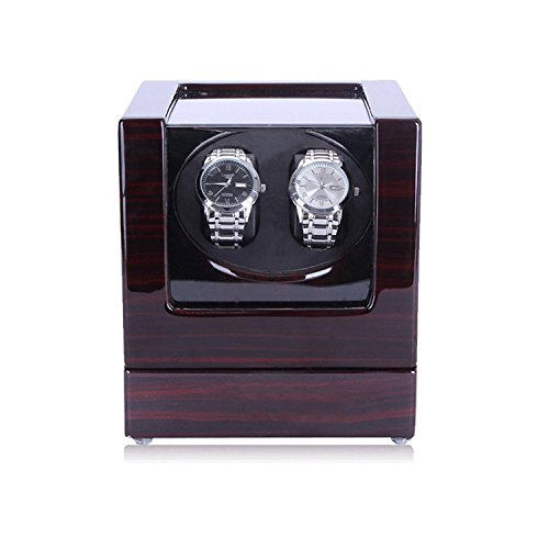 HiPai Automatic Double Watch Winder, Quiet Motor 5 Rotation Modes Self Winding Watch Rotator Box -
