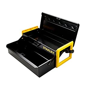 Stanley Tools Metal Cantilever Toolbox with Central Lock and Metal Handle | 16""