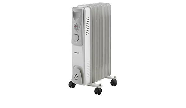 Sogo CAL-SS-18207 Radiador de aceite eléctrico, 7 elementos 1500 W, Blanco: Amazon.es: Hogar