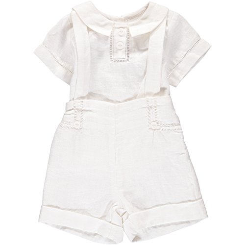 Carriage Boutique Boys Formal and Special Occasion 2-Pc. Short Set With Suspenders - Summer Outfit, 12M