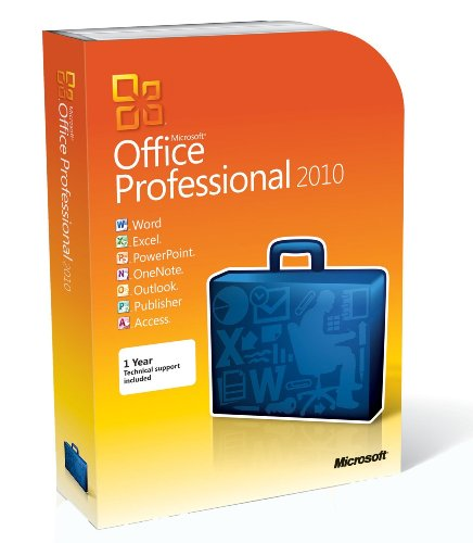 Microsoft Office Professional 2010 32 and 64 bit Full Retail