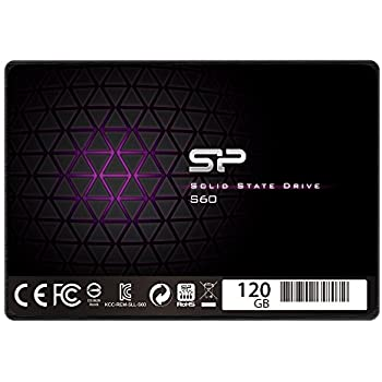 """Silicon Power 120GB SSD S60 MLC High Endurance SATA III 2.5"""" 7mm (0.28"""") Internal Solid State Drive- Free-download SSD Health Monitor Tool Included (SP120GBSS3S60S25)"""