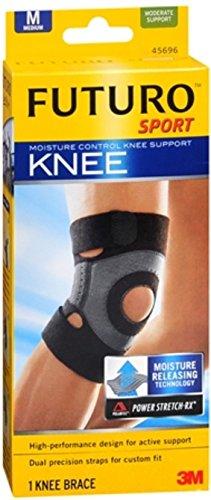 FUTURO Sport Moisture Control Knee Support, Medium 1 ea (Pack of -