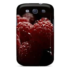 Unique Design Galaxy S3 Durable Tpu Case Cover Food Fruits And Berryes Raspberries On A Plate