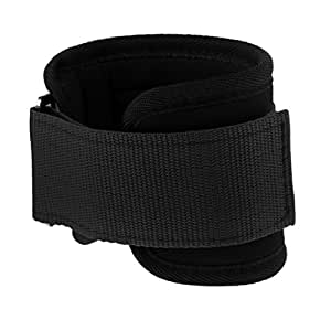 Baoblaze Premium Ankle Anchor Strap,Gym Cable Attachment w/D-Ring Strap Leg Tube for Fitness Exercise Strength Training - Black, as Described