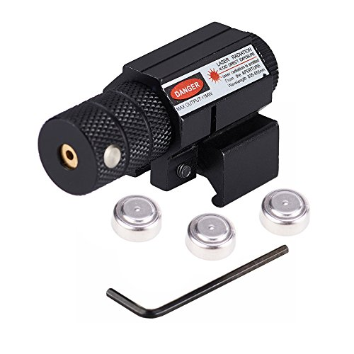 Pinty Compact Tactical Red Laser Sight with Picatinny Mount Alan Wrenches for Hunting – Easy & Bright For Sale